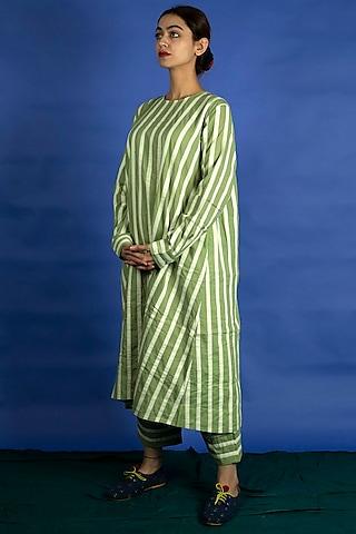 Mint Appliques Tunic With Pants by Ka-Sha