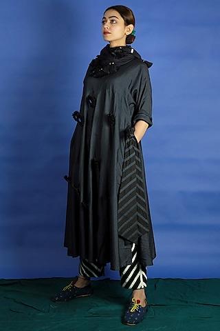 Black Embroidered Tunic Set by Ka-Sha