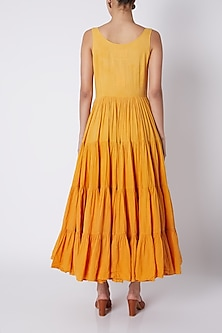 Orange Tiered Maxi Dress by Ka-Sha
