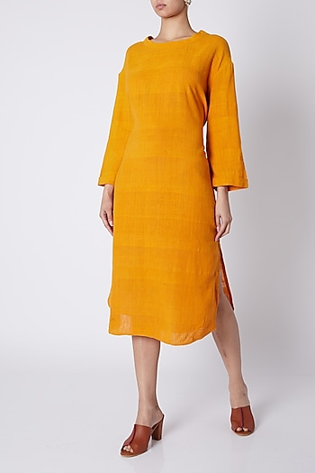 Orange Midi Dress by Ka-Sha