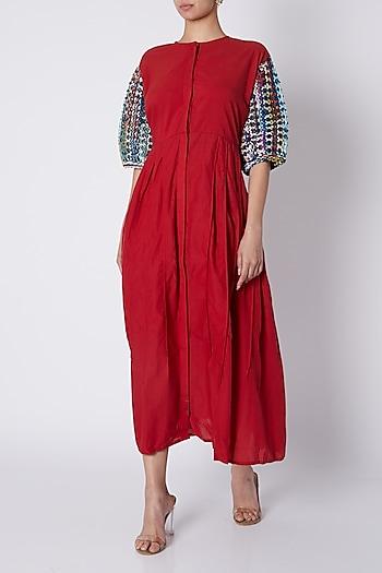 Dark Red Maxi Dress by Ka-Sha