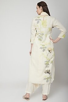 Off White Printed Tunic by Kaveri