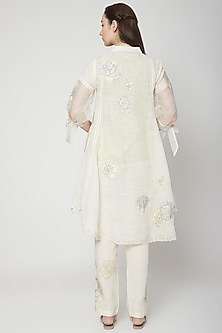 Off White Embroidered Top by Kaveri
