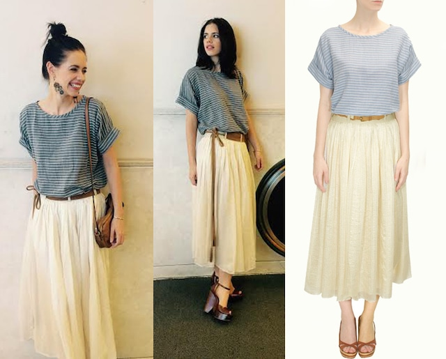 White day disco skirt by Shift By Nimish Shah