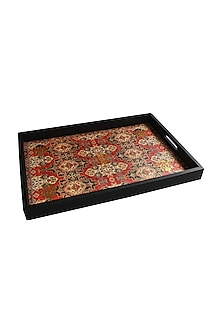 Multicolor Wooden Kama Serving Tray by Karo