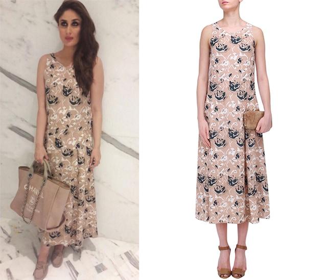 Floral Print Waluscha A Line Midi Dress by Shift by Nimish Shah