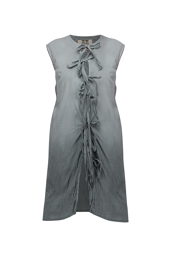 Grey Ombre Dyed Tunic by Ka-Sha
