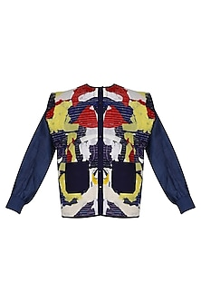 Multicolor Textured Surface Upcycled Jacket by Ka-Sha