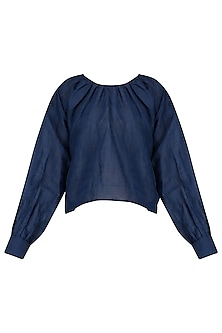 Blue High Low Top with Inner by Ka-Sha