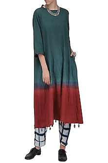 Red and Blue Long Tunic by Ka-Sha