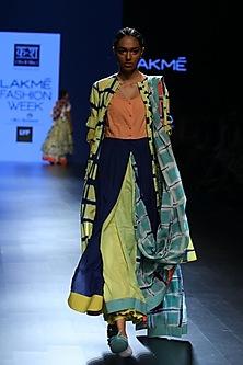 Sunshine yellow A line jacket dress by Ka-Sha