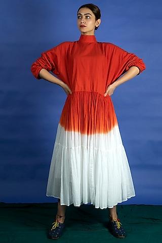 Vermillion Dip Dyed Dress by Ka-Sha