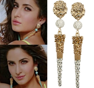 Lion drop earrings by House of Chic