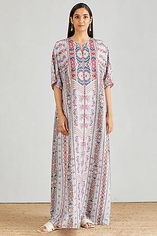Multi Colored Printed Kaftan Dress by Kavita Bhartia