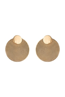 Gold Finish Jacket Loop Earrings by Kichu