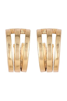 Gold Finish Hoop Earrings by Kichu