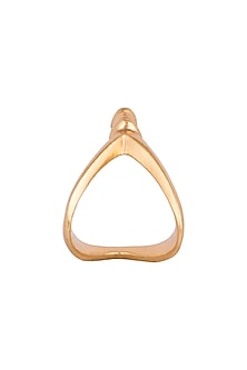 Gold Finish Bow Ring by Kichu
