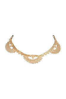 Gold Finish Choker Necklace by Kichu