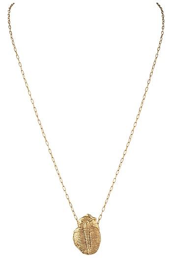 Gold plated trylobyte pendant necklace by Kichu