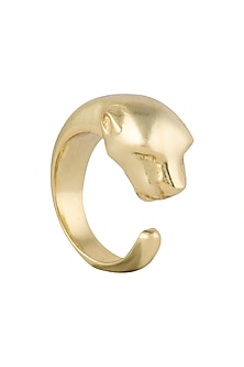 Gold plated panther ring by Kichu