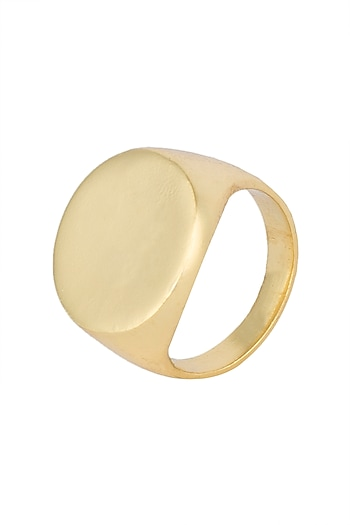 Gold plated signet ring by Kichu