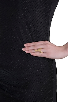 Gold plated antler ring by Kichu