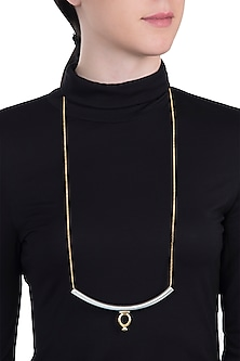 Gold and silver dual plated necklace by Kichu