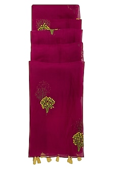 Rani Pink Gypsy Embroidered Dupatta by Khes