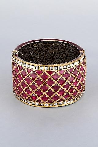Gold Foil Finish Kada by Khushi Jewels