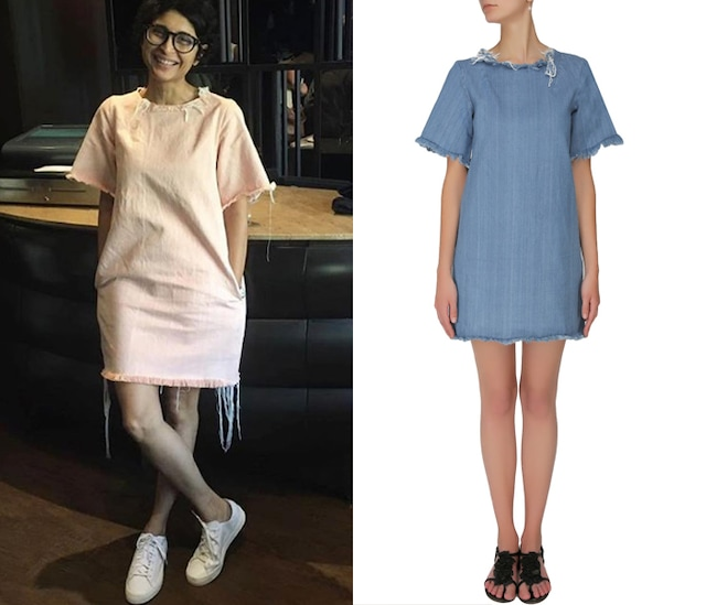 Indigo washed denim shift dress by Shift By Nimish Shah