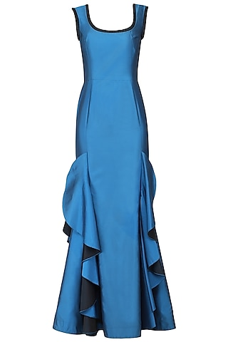 Blue Victorian Gown by Kanika J Singh