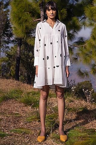 White Printed Dress by Khara Kapas