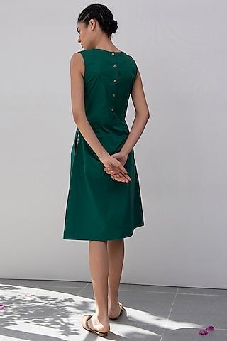 Emerald Green Sheath Dress by Khara Kapas