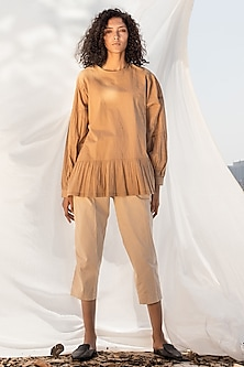 Biscotti Anti Fit Top With Gathers by Khara Kapas