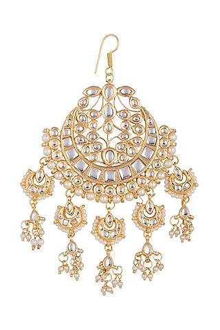 Gold Plated Chandbali Latkan Pasa by Just Shraddha