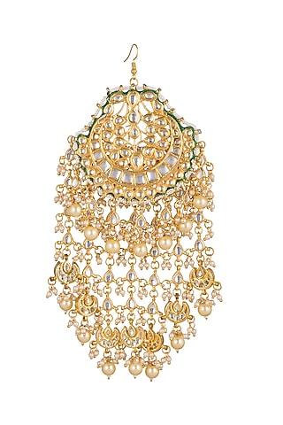Gold Plated Kundan Pasa by Just Shraddha