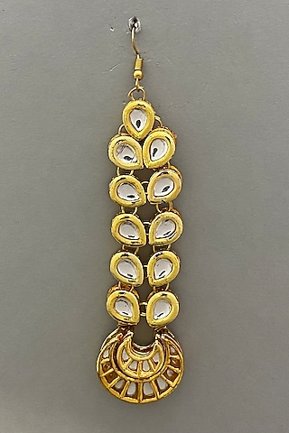 Gold Plated kundan Maang Tikka by Just Shraddha