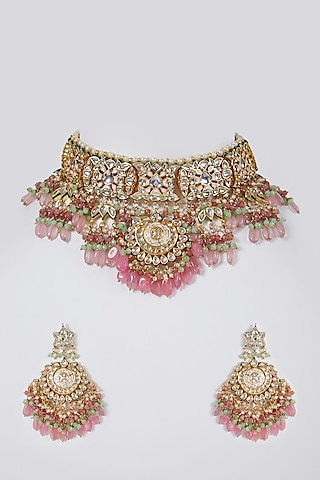 Gold Plated Necklace Set by Just Shraddha