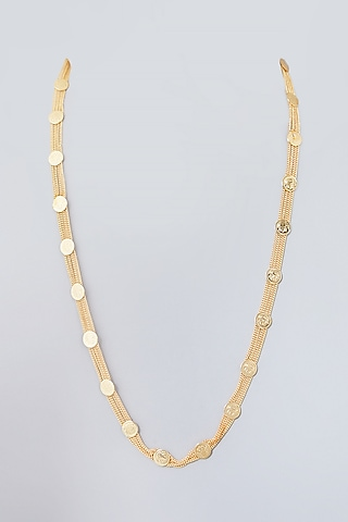 Gold Plated Long Chain Necklace by Just Shraddha