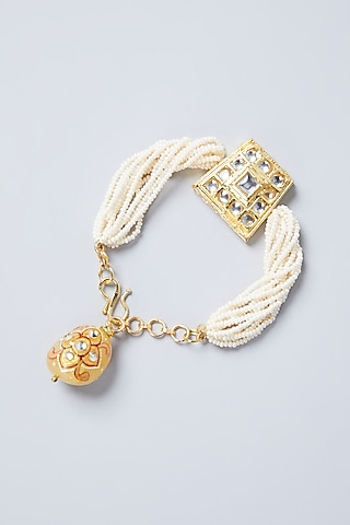 Gold Plated Pearl Bracelet by Just Shraddha