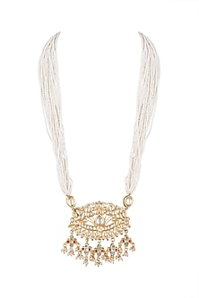 Gold Plated Kundan Pendant Necklace by Just Shraddha