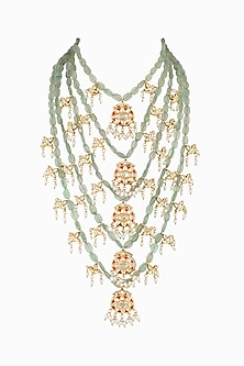 Gold Plated Meenakari Beaded Necklace by Just Shraddha