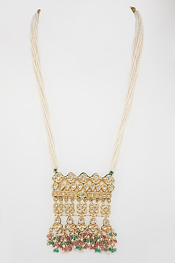 Gold Plated Kundan Necklace by Just Shraddha
