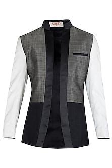 Multi-Coloured Patch Work Jacket by Kommal Sood