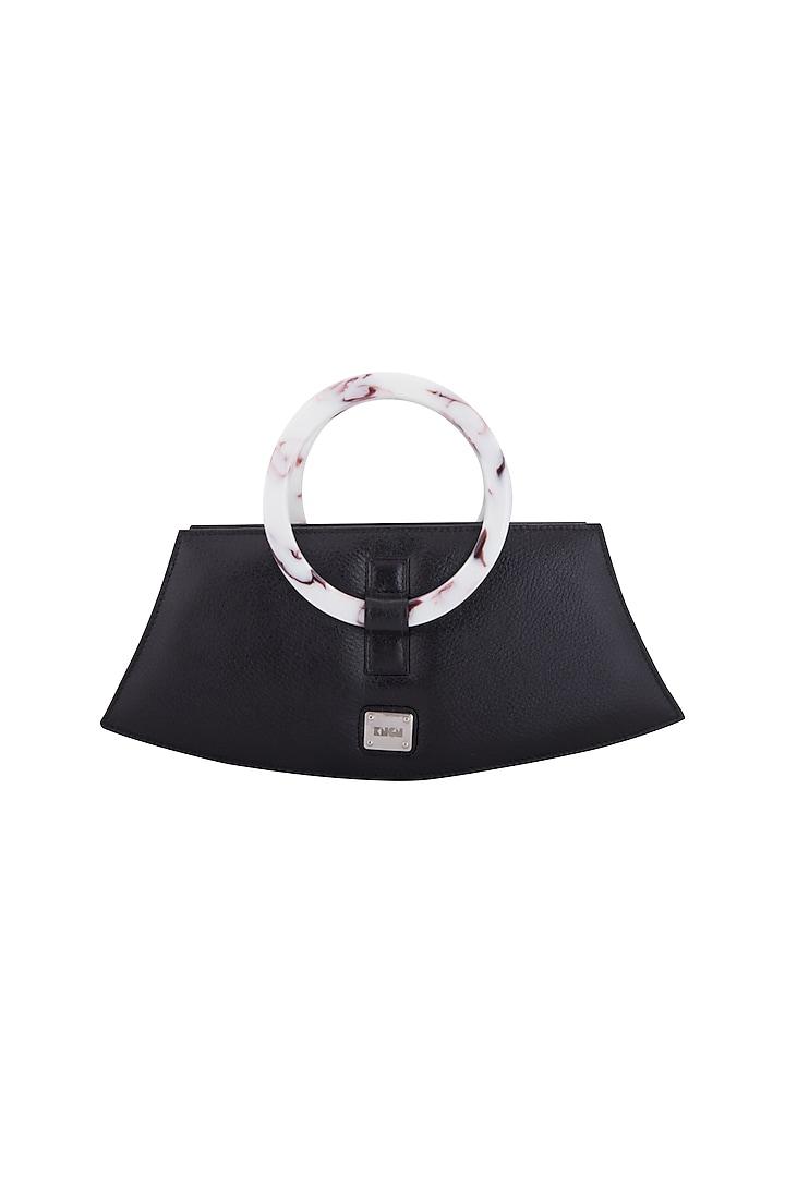Black Handbag With Acrylic Handle by KNGN