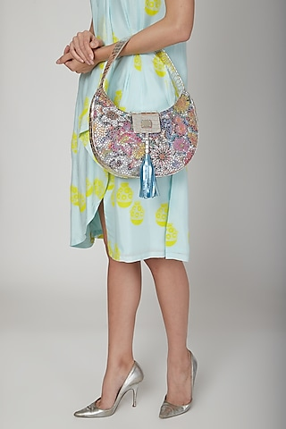 Multi Colored Handbag With Shoulder Strap by KNGN
