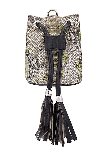 Silver & Black Belt Bag by KNGN