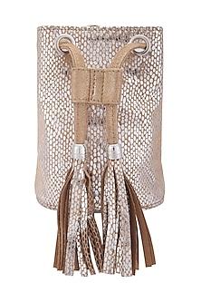 Gold Miniature Belt Bag by KNGN