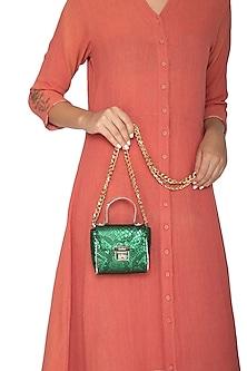 Emerald Green Mini Crossbody Bag by KNGN