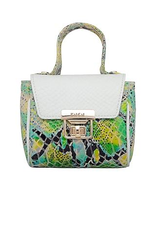 White & Green Mini Crossbody Bag by KNGN